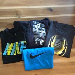 EUC NIKE lot of 3 T-shirts and 1 Sweatshirt M/L